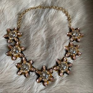 J. Crew Tortoise & Crystal Statement Necklace